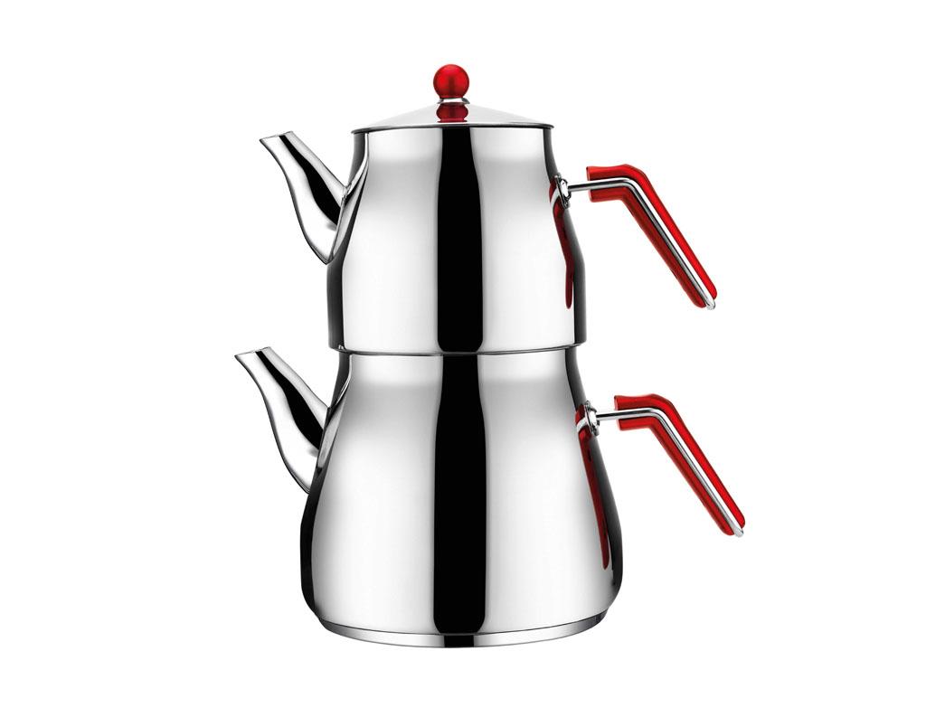 Aksu Mega Famıly Çaydanlık Takımı Kırmızı