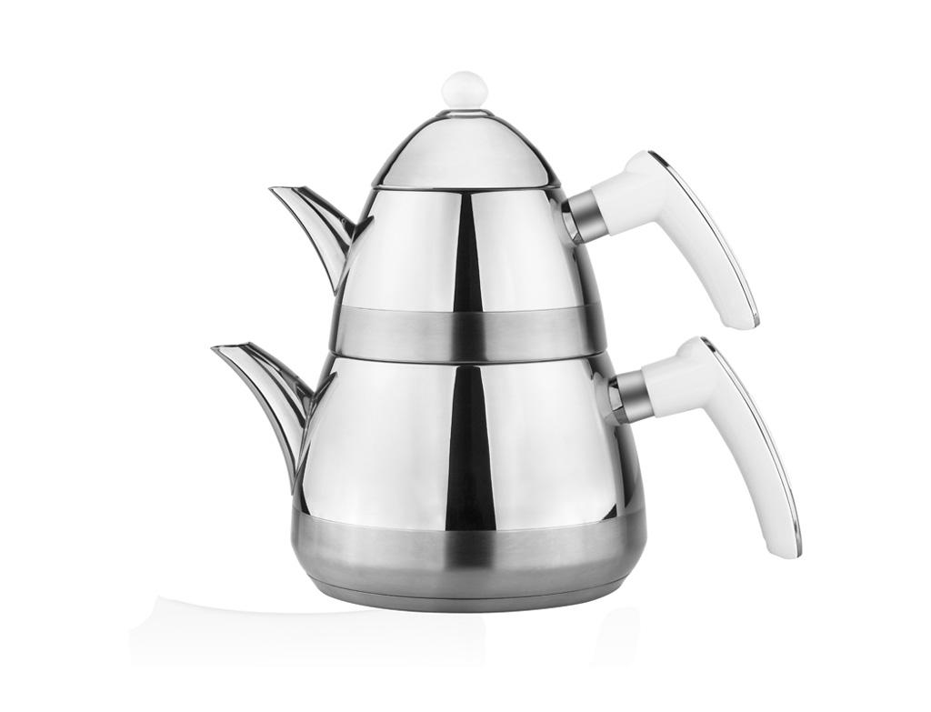 Taç Casablanca Çaydanlık Takımı - Beyaz