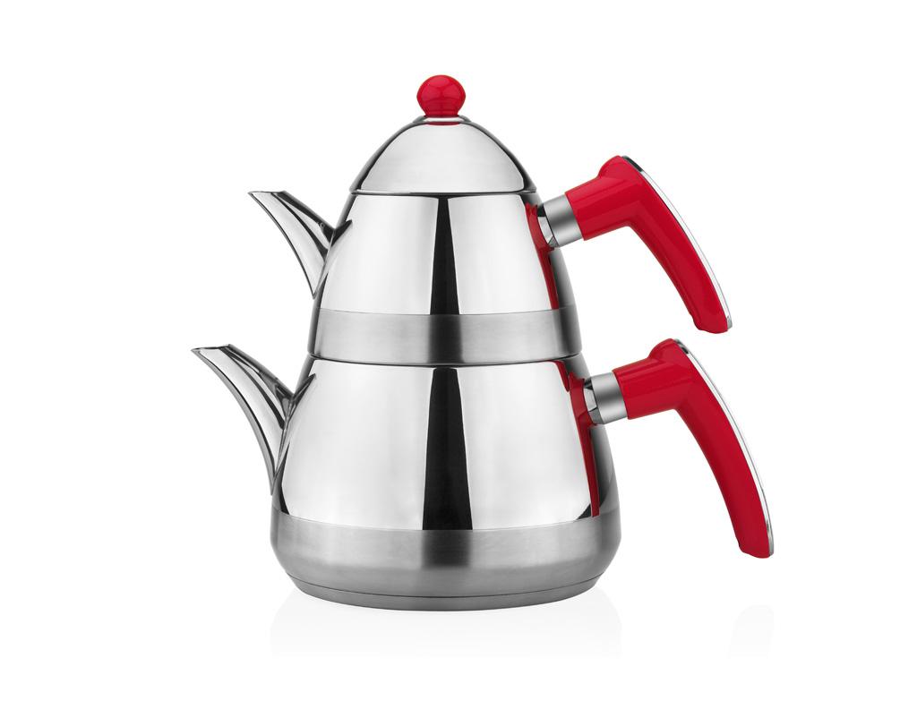 Taç Casablanca Çaydanlık Takımı - Kırmızı