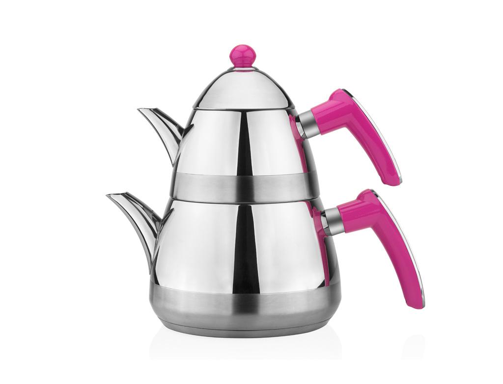 Taç Casablanca Çaydanlık Takımı - Fuşya